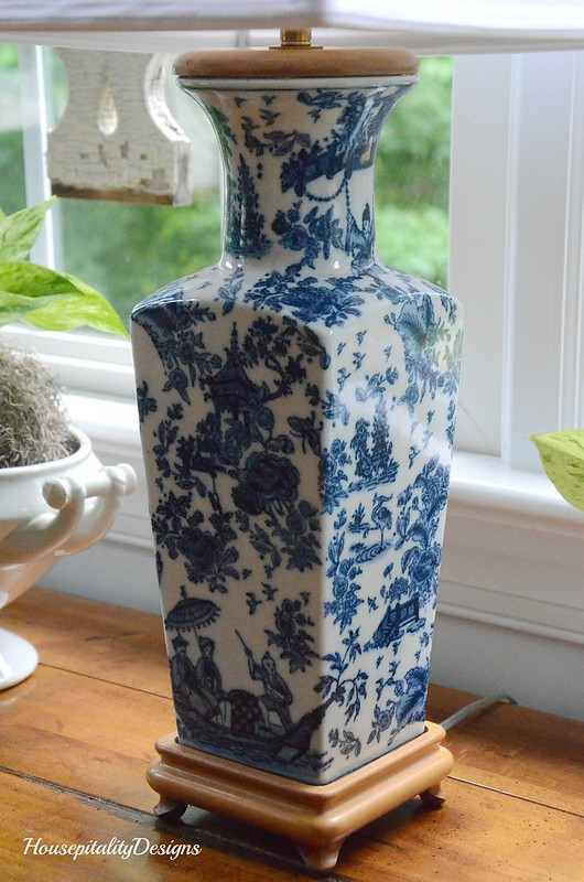 Blue and White Lamp-Housepitality Designs
