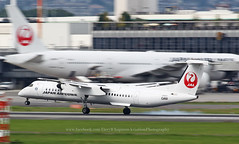 "Bombardier, Dash-8-402, JA841C, ""Japan Air Commuter"", RJOO, Osaka Itami, Japan"