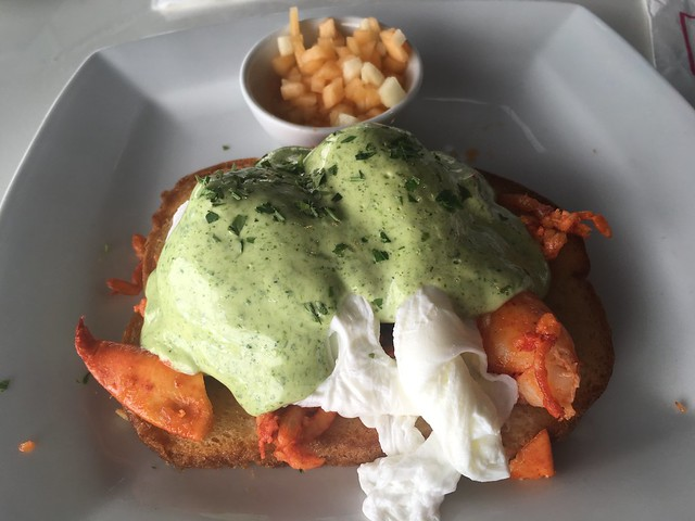 Lobster roll eggs benedict - Eight4Nine