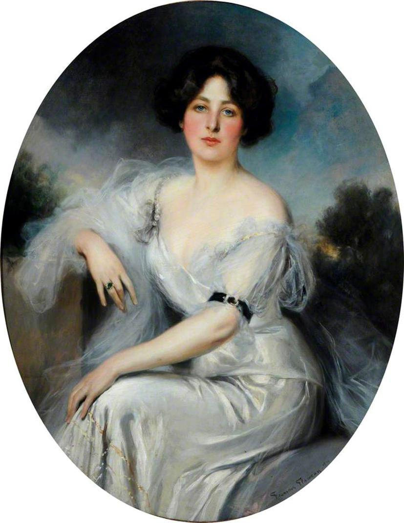 Lady Duveen, née Salamon by Francois Flameng, 1910