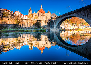 Portugal - North Region - Amarante - Cathedral of Saint Goncalo & Ponte São Gonçalo at Morning light