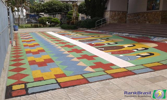 Maior tapete da Santa Ceia em areia colorida