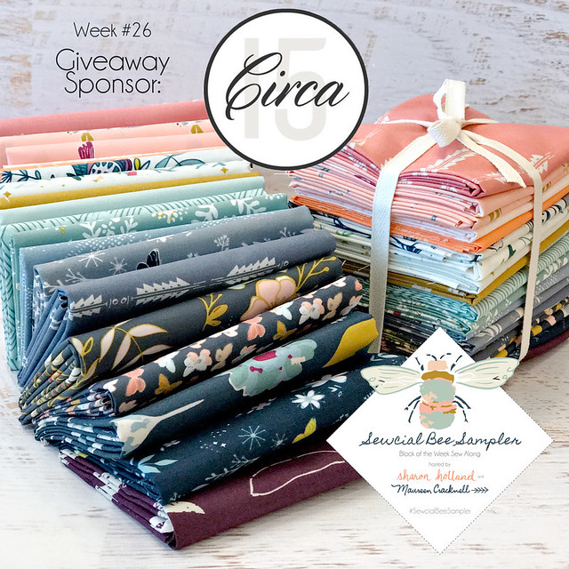 A Sewcial Bee Giveaway with Circa 15 Fabric Studio!