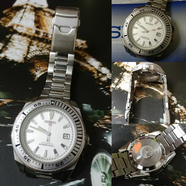 Seiko White Samurai SNM009 200m Auto Diver