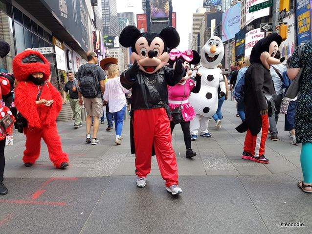 Times Square costume characters