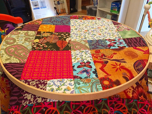 Mr. Baby allows me to do two or three quilt ties per day. At this rate, I'll have this quilt finished in 2019 or so.