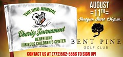Smoke Inn Cigars, Vero Beach Third Annual Charity Golf Tournament at Bent Pine Golf Club benefiting Hibiscus Children's Center