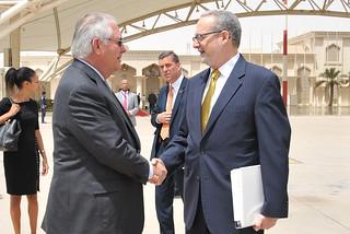Secretary Tillerson Prepares to Depart Kuwait