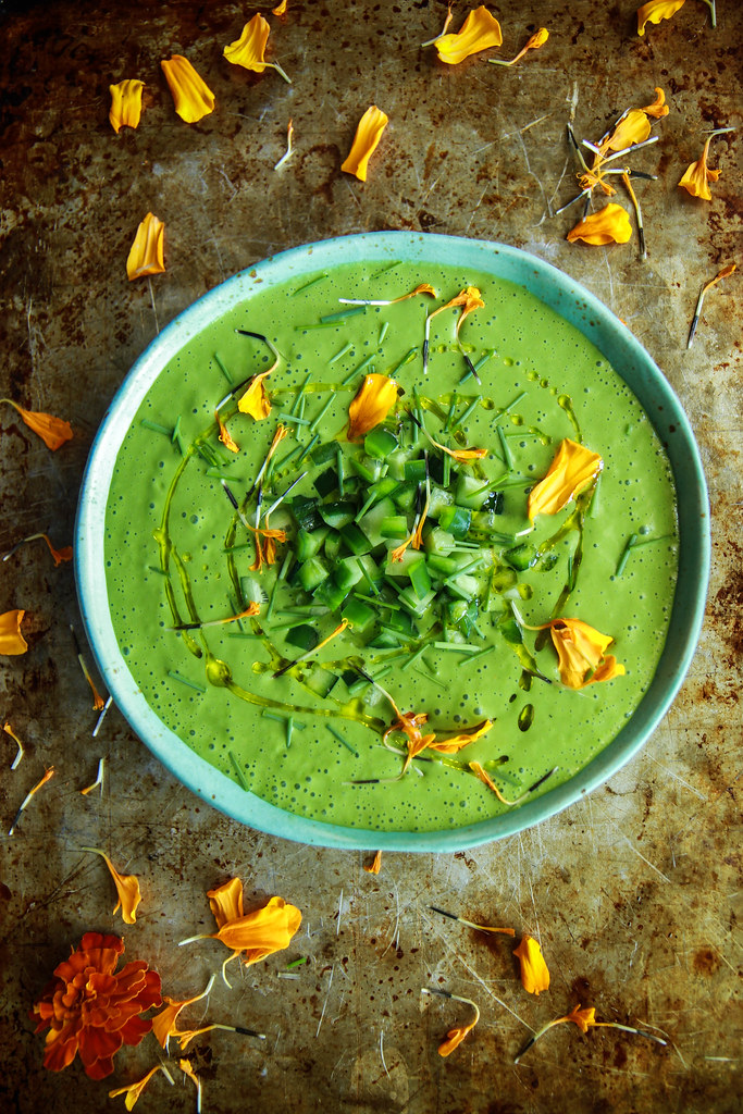 Green Gazpacho from HeatherChristo.com
