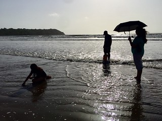 Family at beach. Water Beach Silhouette Real People Togetherness Sea Outdoors Full Length Horizon Over Water Daytime Family Time Family❤ Family Of Four Goa India Playingatthebeach Beachphotography Beach Time Beach Umbrella