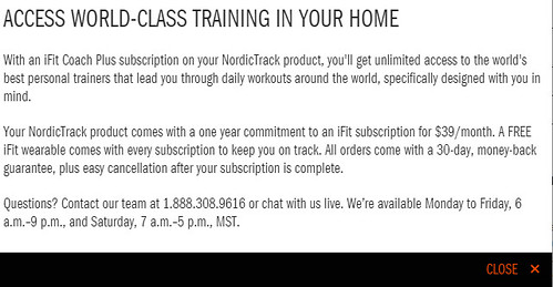 Nordictrack Treadmill & Mandatory iFit Coach + Subscription