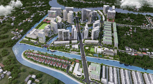 Phối cảnh tổng thể khu đô thị Mizuki Park Bình Chánh.