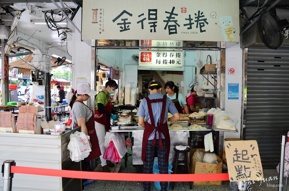 [台南]中西區永樂市場金得春捲。傳統好食的豐盛餡料