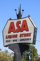ASA Liquor Store Sign (formerly Martin's Royal Burger) - Oakland, Calif.