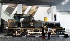 Nineteenth Century 2-4-2 steam locomotive at the Kyoto Railway Museum 8540