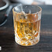 Tuck Old Fashioned, Luxe made with Elijah Craig 18 Year Old Single Barrel, Ice DJ clineball chunk, Evan Williams Bottled in Bond Bourbon, wood fired NY maple syrup, Godfather bitters
