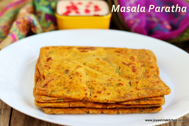 Masala square-paratha