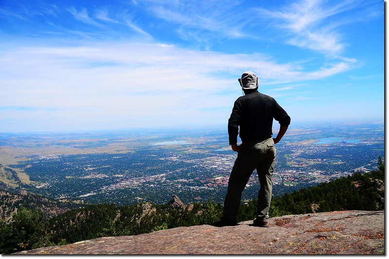 Overlooking Boulder downtown from Green Mountain 7