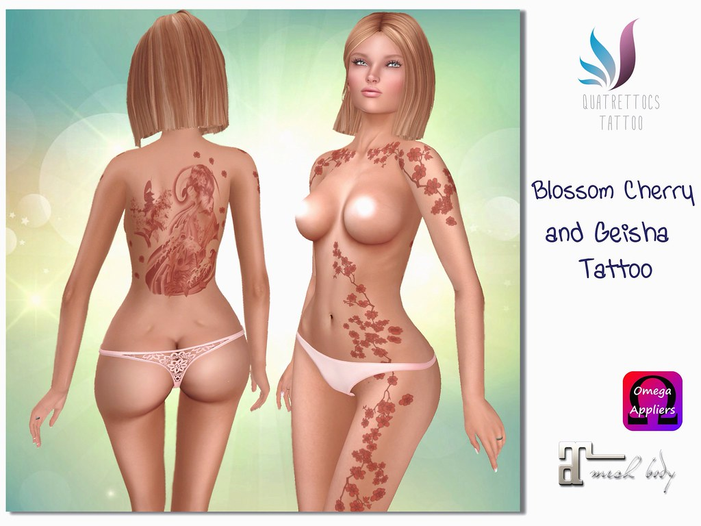Blossom Cherry & Geisha Tattoo - SecondLifeHub.com