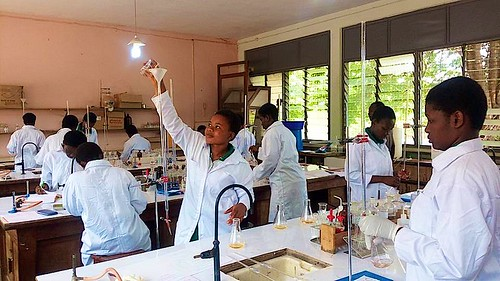 Chemistry lab for the students at St Louis Senior High School, Kumasi, Ghana
