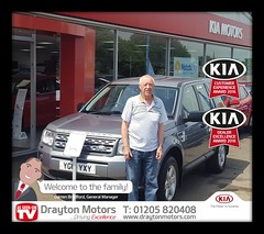 Mr Hamilton collecting his new Freelander from Nathan at Drayton KIA. This is Mr Hamilton's first purchase from us so we would like to thank him for his business and welcome him to our family!