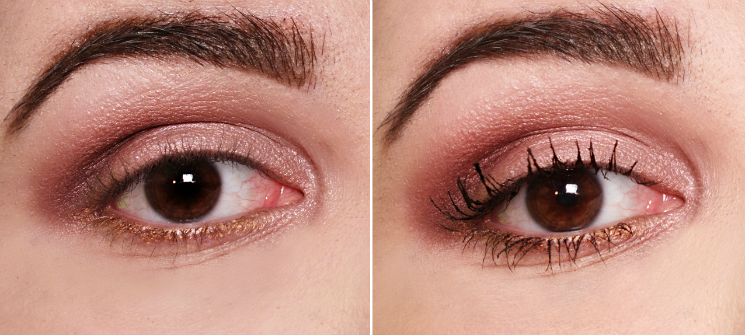 Revlon Mega Multiplier Mascara Before & After