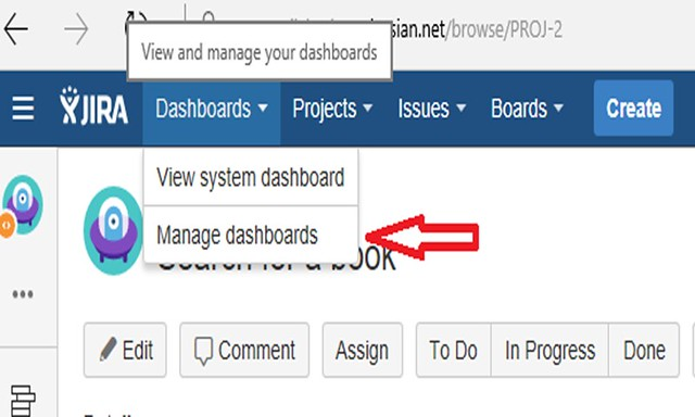 Jira Features - Managed Dashboard