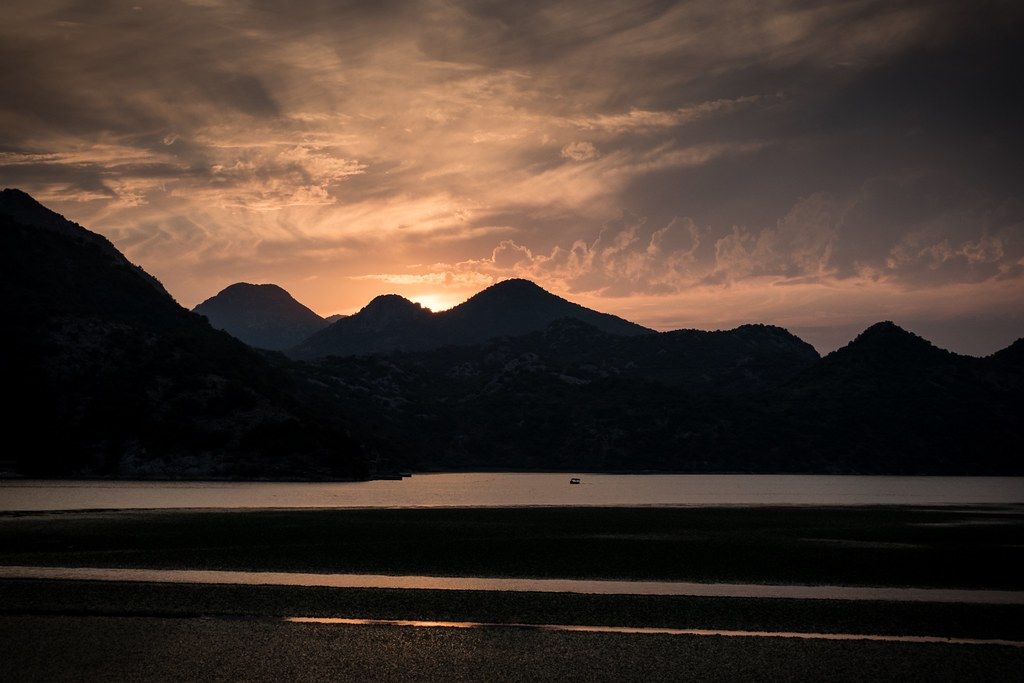 Sunset at Lake Skadar