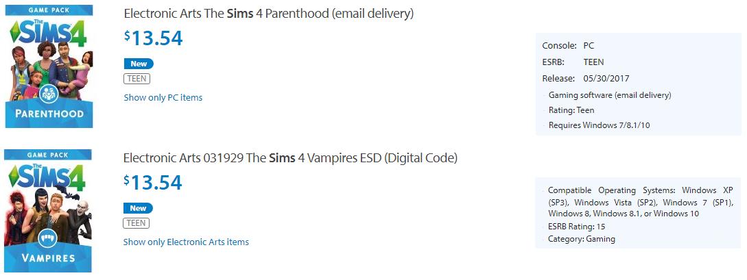 Walmart Sale Sims 4