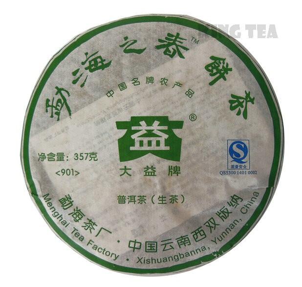 Free Shipping 2009 TAE TEA DaYi Meng Hai' s Spring Beeng Cake 357g China YunNan MengHai Chinese Puer Puerh Raw Tea Sheng Cha Premium