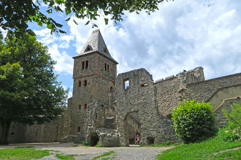 Visit to Frankenstein Castle in Odenwald mountain