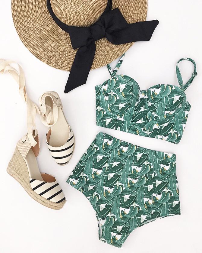 stripe wedge soludos espadrilles pool beach outfit