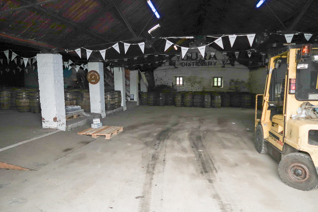 Barrel store, Jura Distillery
