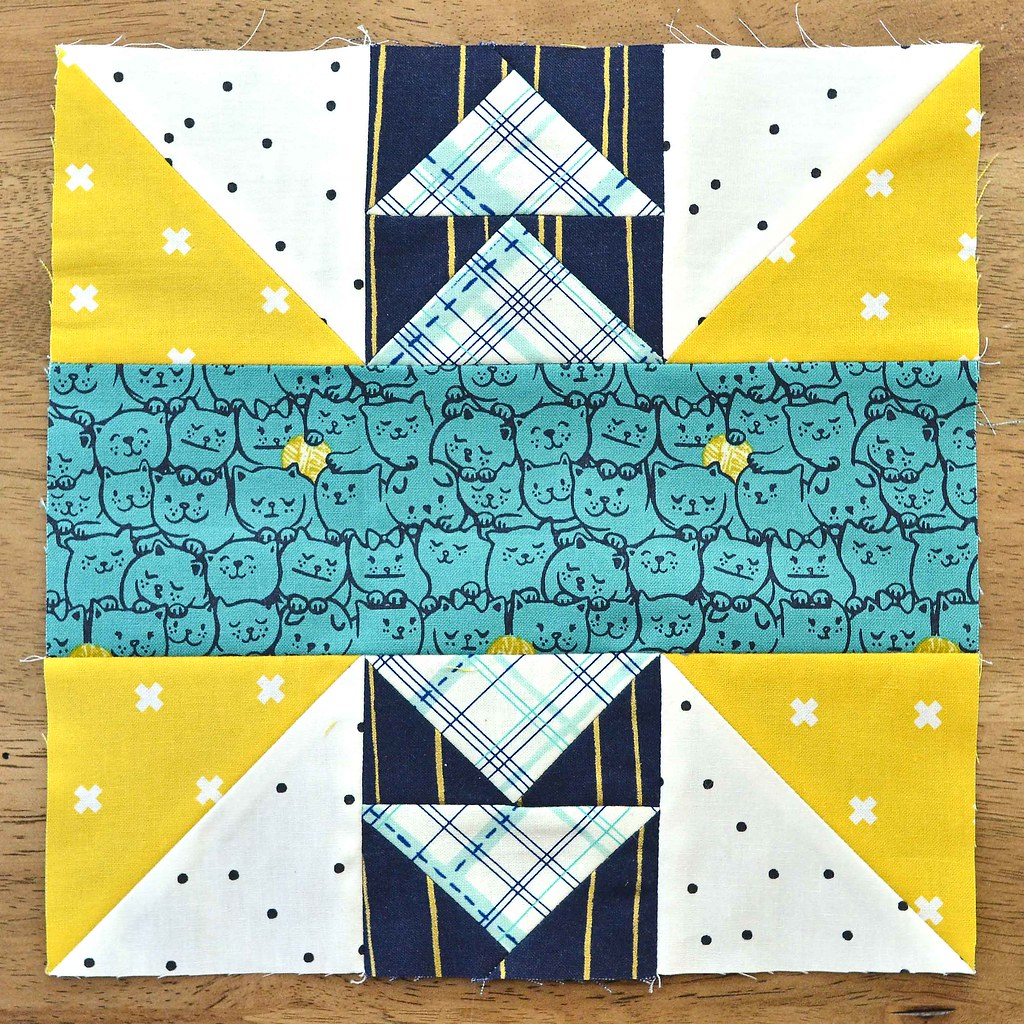 The Fussy Cut Sampler Block # 38