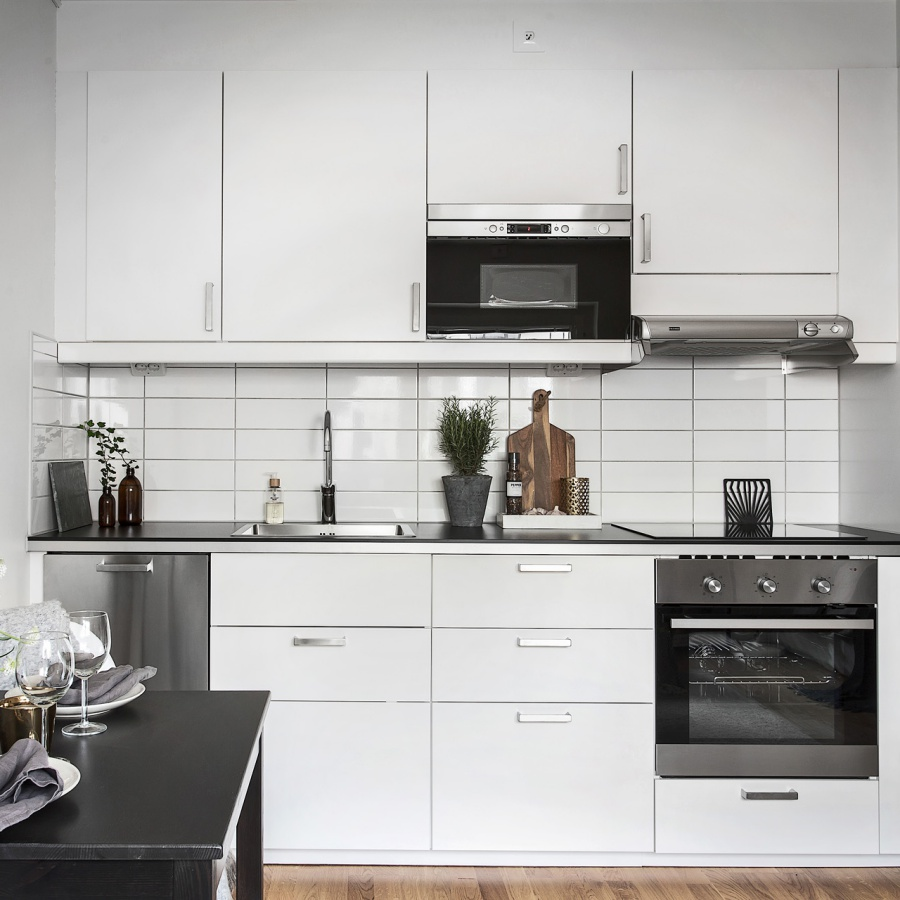 Black and White Scandinavian Home