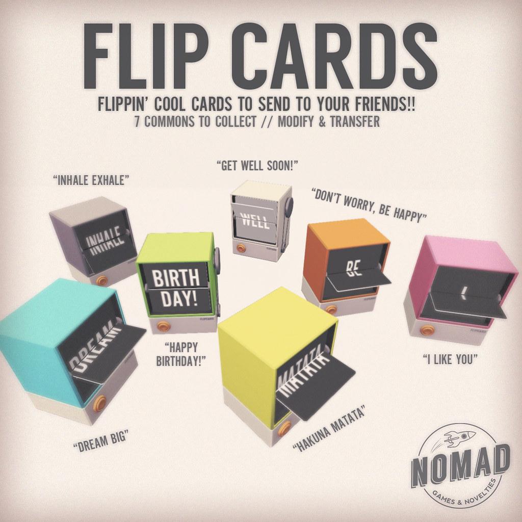 NOMAD // Flip Cards Gacha - SecondLifeHub.com