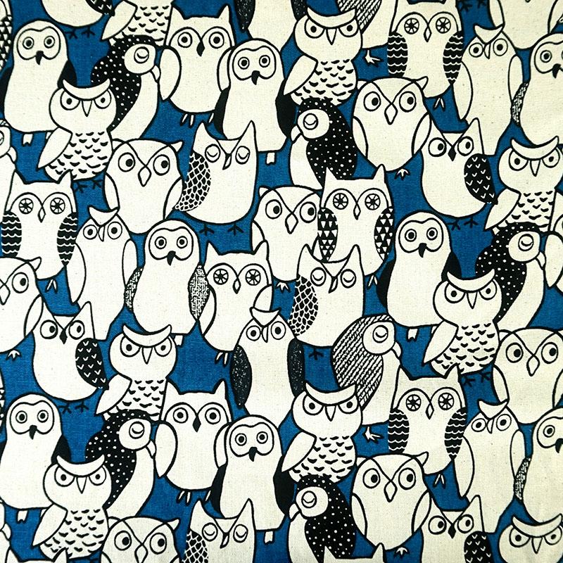 猫头鹰族群(大特价) 领角鹗 可爱动物 手工艺diy拼布布料cf550595