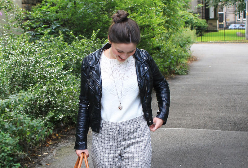 Joules Gingham Cigarette Trousers fashion blogger UK