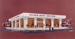 Golden West Savings, San Francisco, Calif. - Rendering by Nicholas Casella for Federal Sign - photo dated June 1964