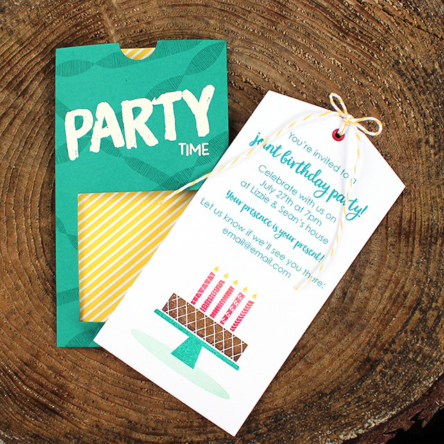 Birthday Party Pocket Invitation 4