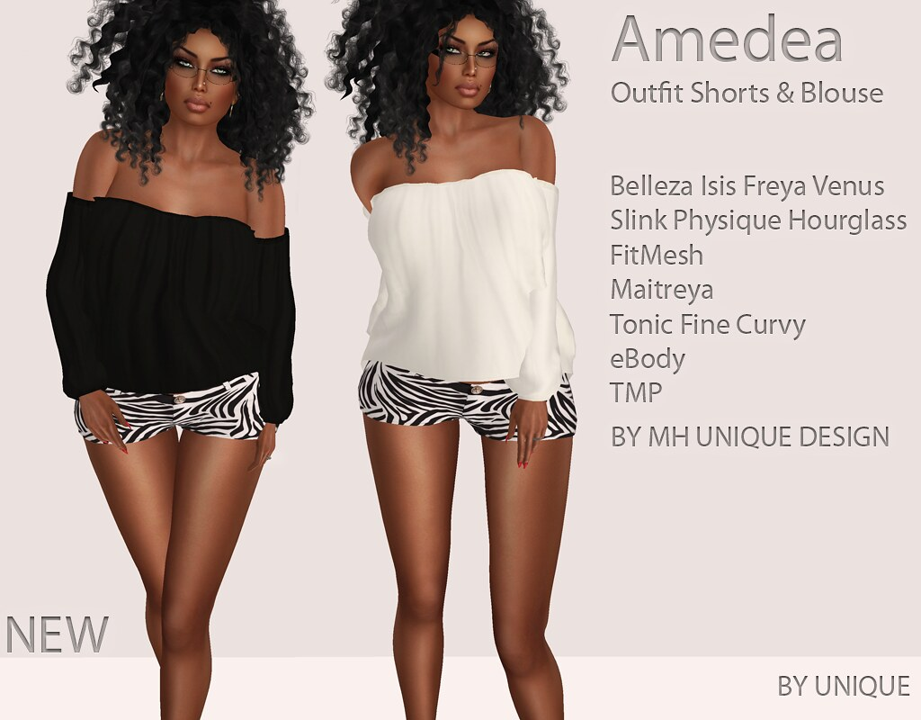 MH-Amedea Outfit Shorts & Top - SecondLifeHub.com