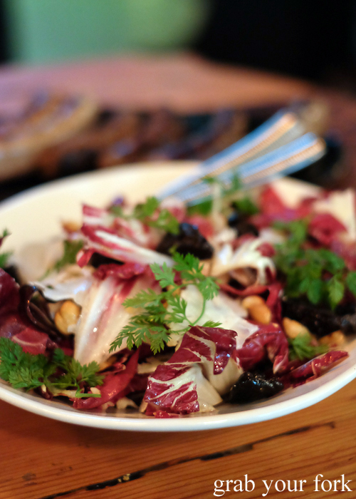 Radicchio, cauliflower, hazelnut and prune salad from the Sausage Factory by Chrissy's Cuts in Dulwich Hill