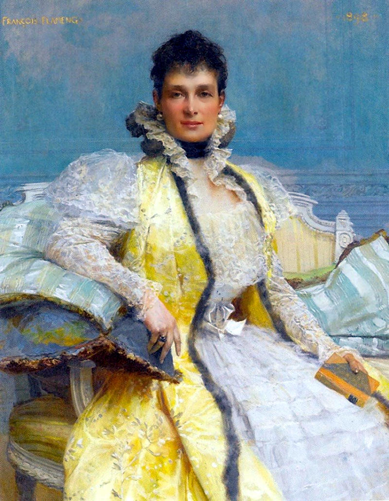 Grand Duchess Maria Pavlovna by Francois Flameng, 1898