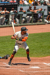 Hunter Pence at bat v Padres