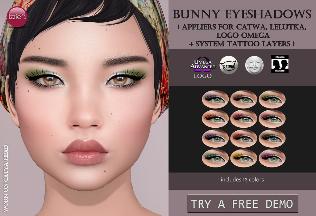 Bunny Eyeshadows (for FLF) - SecondLifeHub.com