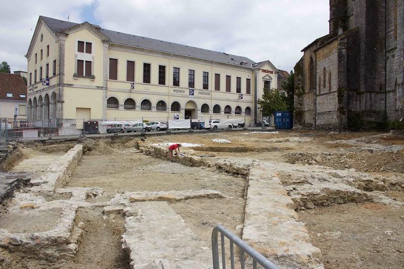 """Aménagement """"Coeur de Ville d'Orthez"""" Zone 3&4 - Place Marcadieu-Mars à Août 2017"""