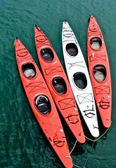 Kayaks, Boardwalk, pier, Santa Cruz,