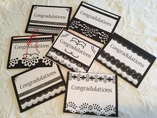 Black and White Grad Card Assortment