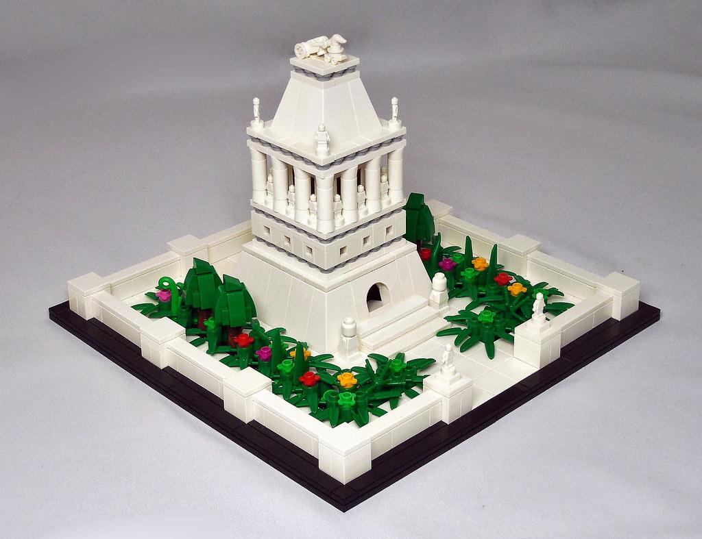 Mausoleum at Halicarnassus (custom built Lego model)