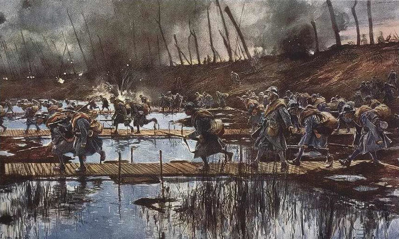 World War I Attack by François Flameng